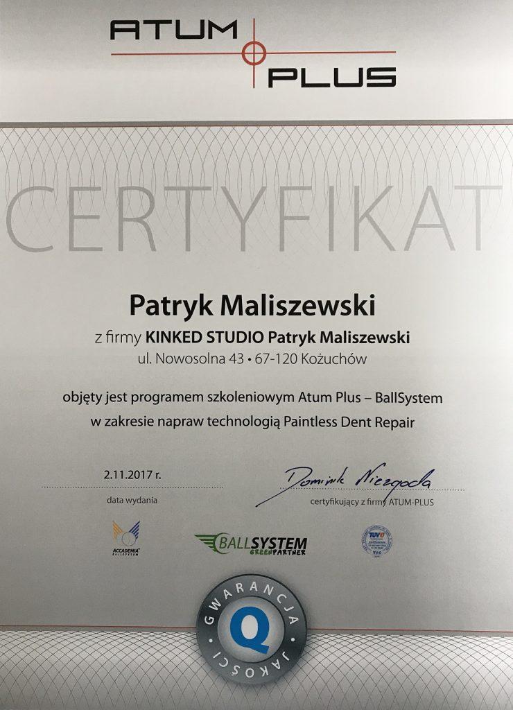 kinked-studio-certyfikat